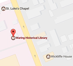 Small Map of Waring Historical Library Location