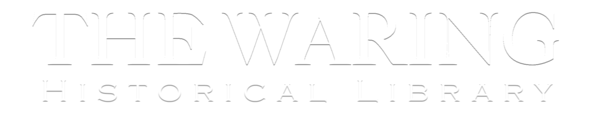 Waring Historical Library Logo text